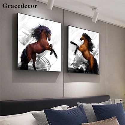 Top Selling Wall Horse Pictures Resin Painting-CE263